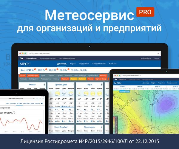 Метеосервис для организаций и предприятий